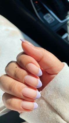 Almond Nails French, French Tip Nails, Almond Gel Nails, Colored French Nails, Summer Nails Almond, Cute Almond Nails, Short Almond Nails, Almond Nails Designs, Nail Tip Designs