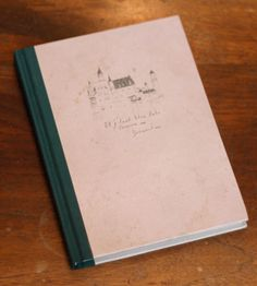 Lined notebook with sketch of Bohemia on the cover