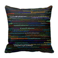 Castel Volturno Text Design I Throw Pillow