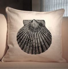 Scallop Sea Shell Seashell Vintage Digital Image Download Transfer Fabric Iron On Black Sepia Color Burlap jpg pdf png Collage Sheet 199. $1.00, via Etsy.