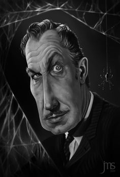 ☆ Vincent Price Caricature :: Artist Javier Martinez Sanchez ☆