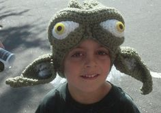Yoda Jedi Master Star Wars Crocheted Hat, made to order in all sizes | HatsandSpats - Accessories on ArtFire