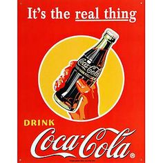 Coca-Cola Real Thing Replica Metal Sign