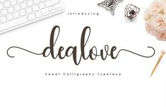 Introducing the latest styles dealove font Script with the kind of modern hand scratches, I hope you are interested in this font, if you want to use Cursive Fonts, Calligraphy Alphabet, Handwritten Fonts, Calligraphy Fonts, Typography Fonts, Hand Lettering, Script, Alphabet Fonts, Beautiful Calligraphy