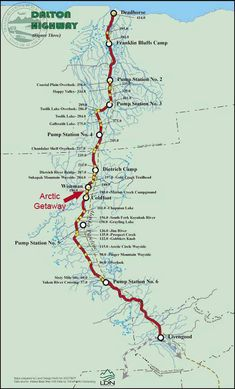 Dalton Highway, Alaska Map
