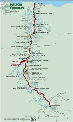 Dalton Highway, Alaska Map