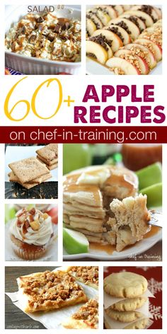 60+ Apple Recipes on chef-in-training.com …this round up has so many yummy recipes to choose from!