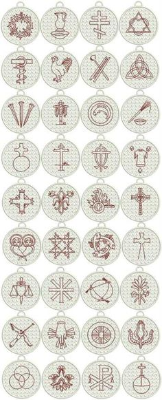 Advanced Embroidery Designs - FSL Christian Symbol (Chrismon) Ornaments