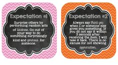 Ron Clark Expectations Posters freebie download - the perfect complement to the 11 essential virtues in WUYC?