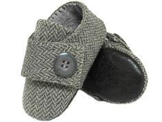 Benjamin Baby Boy Shoes in Wool slipper bootie infant by Pink2Blue