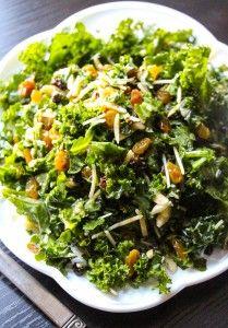 Lemon Parmesan Kale Salad by layersofhappiness: Healthy, fast and simple. #Salad #Kale #Lemon #Parmesan #Healthy