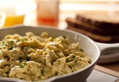 Classic Campbelled Eggs. The secret to these extra-creamy scrambled eggs is the addition of cream of celery soup beaten into the eggs before cooking. #scrambled #eggs #breakfast #recipe