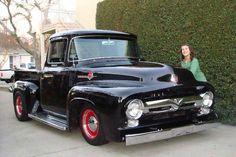 1956 Ford Pickup, 1956 Ford Truck, Ford Pickup Trucks, Antique Trucks, Vintage Trucks, Old Trucks, Cars Usa, Us Cars, Little Truck