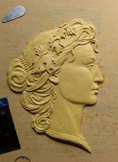 Делаем барельеф: женский профиль - Ярмарка Мастеров - ручная работа, handmade