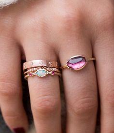 Primrose Tourmaline Textured Ring - Audry Rose