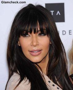 Kim Kardashian's Cute And Sexy Blunt Bangs