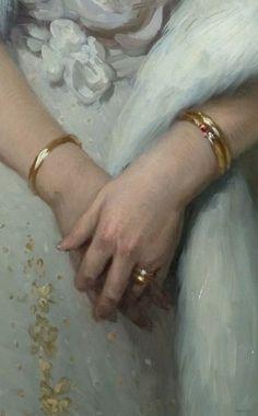 Alexander Makovsky - Portrait of Empress Alexandra Feodorovna, detail
