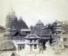 Here is a compilation of some very old photos and paintings of Jagannatha Puri, in Orissa. Many of these photos were taken by William Henry Cornish around Jagannath Temple Puri, Lord Jagannath, Hindus, Rare Photos, Old Photos, Archaeological Survey Of India, Lions Gate, Krishna Art, Ancient Architecture
