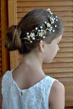 Pearl Flower Hair Comb Homecoming Fairytale Headpiece Pastel Accessories Prom Hair Bridal Flower Hair Pins Peach Hair Clip