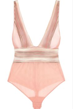 La Perla Nervures Satin Trimmed Stretch Tulle Bodysuit I 39 Pieces of Lingerie to Wear OUT of the Boudoir | {un}covered