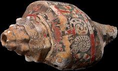Chupícuaro shell trumpet AD 300–900 Chupícuaro, Guanajuato State, Mexico  Shell, stucco, pigment via Aztecs FB