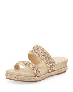 Eileen Fisher Fresh Double Chain-Strap Sandal, Platinum