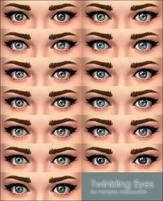 Mod The Sims: Twinkling Eyes by Vampire_aninyosaloh • Sims 4 Downloads