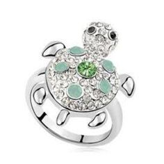 Jewelry - Cute Turtle Ring Green