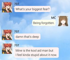 If you want to reupload my quotes somewhere else, just send me an ask! Mystic Messenger Characters, Mystic Messenger Fanart, Mystic Messenger Memes, Funny Quotes, Funny Memes, Jokes, Kool Aid Man, Shall We Date, Lol