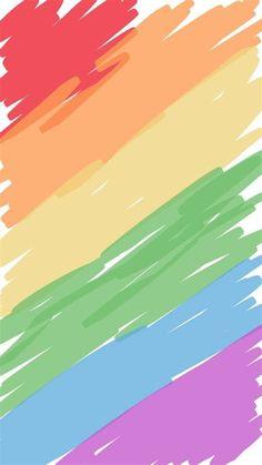 Rainbow Wallpaper, Kawaii Wallpaper, Tumblr Wallpaper, Colorful Wallpaper, Screen Wallpaper, Wallpaper Shelves, Cute Backgrounds, Phone Backgrounds, Cute Wallpapers