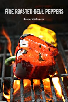 Fire Roasted Bell Peppers | kissmysmoke.com | Simple and effective way to roast your own peppers on the grill!