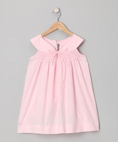 This Pink Honeycomb Smocked Yoke Dress - Infant by Les Petits Soleils by Fantaisie Kids is perfect! #zulilyfinds
