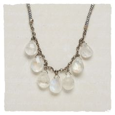 ❥ Moonlight & Pearls Necklace
