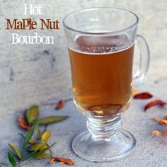 Warm up with this delicious hot toddy recipe >> Hot Maple Nut Bourbon. This is a family favorite for the fall & winter months - great for the holidays! (via @FITaspire)