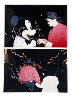 Michael and Mickey Mouse in Tokyo Disneyland