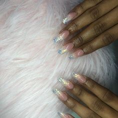 The 10 Best Nail Ideas Today (with Pictures) - First glitter ombré . Kardashian Nails, Nailart, Fun Nails, Pedicure, Nail Ideas, Arizona, Glitter, Pictures, Bright