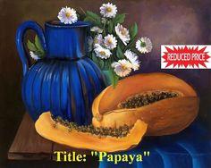 "Cuban Oil Painting ""Papaya""  12"" x 18"". Price Reduced"