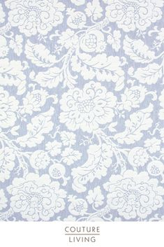 Part of the Andiamo Fabric Collection from Prestigious Textiles, Anastasia is a heritage inspired fabric featuring a traditional repeated floral design. Seen here in Denim. Available as curtains or blinds, made to measure by Couture Living.