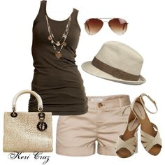 Summer Style by keri-cruz on Polyvore #women #fashion #clothes #heels #dresses #shoes #makeup #nails