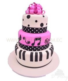 Mmmmm que rico Music Cakes, Beautiful Baby Girl, Fondant, Musicals, Birthday Cake, Candy, Desserts, Crafts, Food