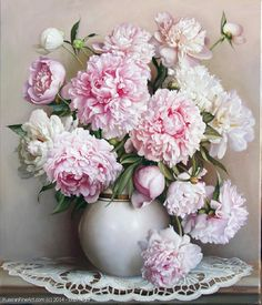 Items similar to Peony Bouquet Paint by Number Kit, Pink Flower DIY Painting Still Life picture on canvas paint coloring by number DIY Gift Painting on Etsy Oil Painting Flowers, Oil Painting On Canvas, Diy Painting, Canvas Paintings, Learn Painting, Painting Walls, Flower Paintings, Painting Frames, Deco Floral