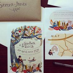 Wedding invites designed by Felicita Sala