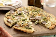 Ultra-Thin-Crust Pizza with Onions, Mushrooms, and Ricotta ~ A quick ...
