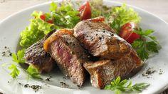 Salat mit Rindfleischstreifen