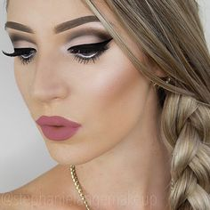 Makeup on #fleek! @stephanielangemakeup using our brow highlight 'Ray of Light' to make her cheeks glow! #sigmabeauty