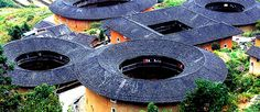 Tulou, the unique residential architecture of Fujian Province in southeastern China, China Way, China China, Micro Apartment, Genius Loci, Apartment Complexes, Design Your Life, Round House, Nanjing, 12th Century