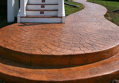 concrete patio surfaces | fixing a slippery stamped concrete surface