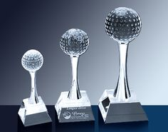 Crystal Golf Trophies