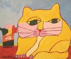 Gato Amarelo - Yellow Cat | Aldemir Martins