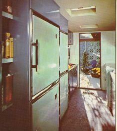 Charming 1960's kitchen and courtyard - bringing the outside in.